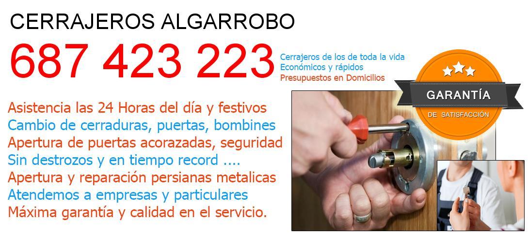 Cerrajeros algarrobo y  Malaga
