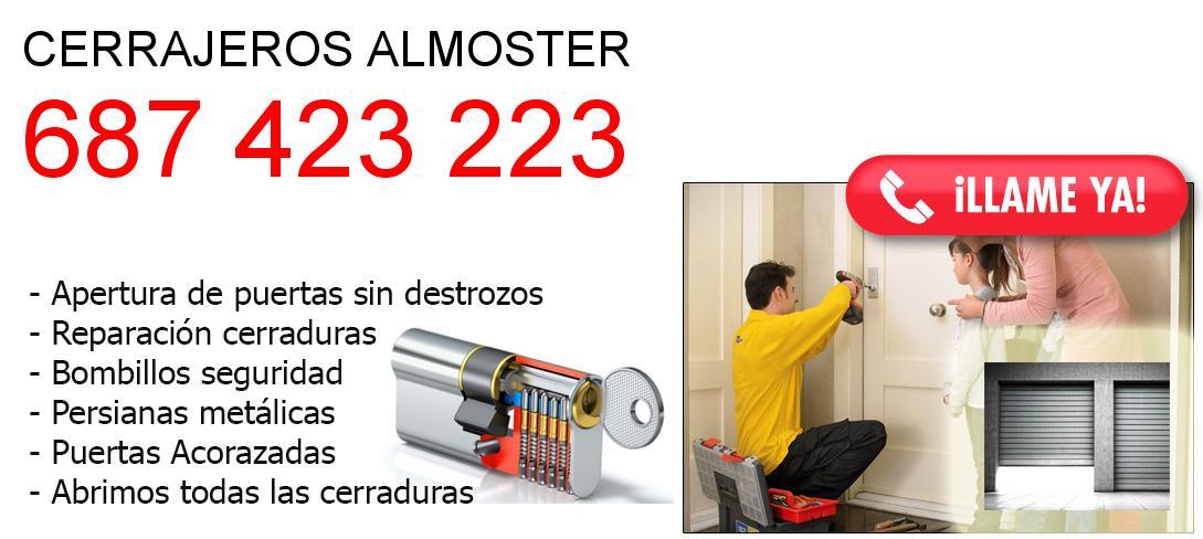 Empresa de cerrajeros almoster y todo Tarragona