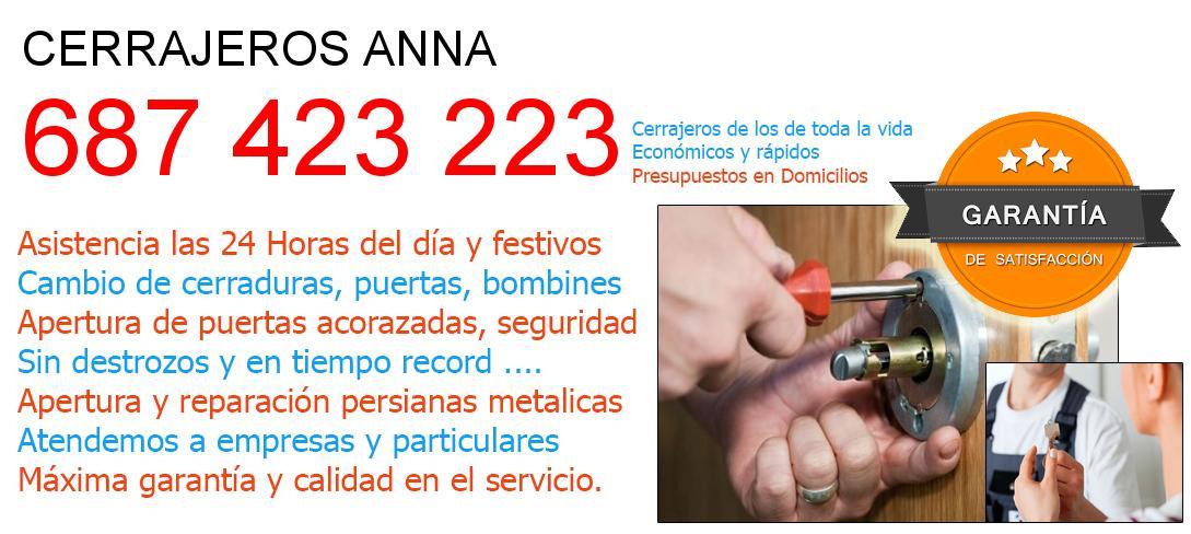 Cerrajeros anna y  Valencia