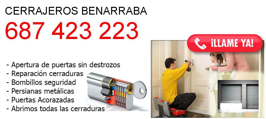 Empresa de cerrajeros benarraba y todo Malaga