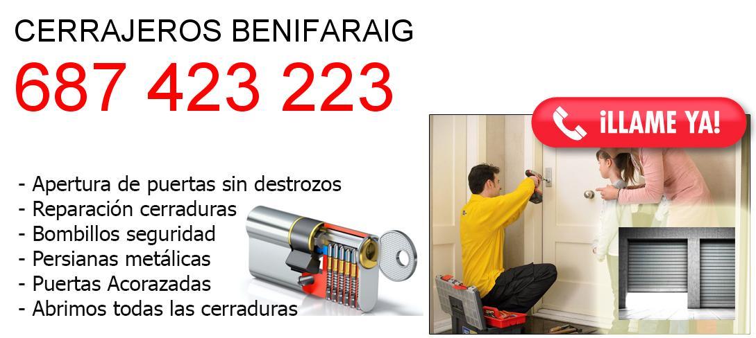 Empresa de cerrajeros benifaraig y todo Valencia