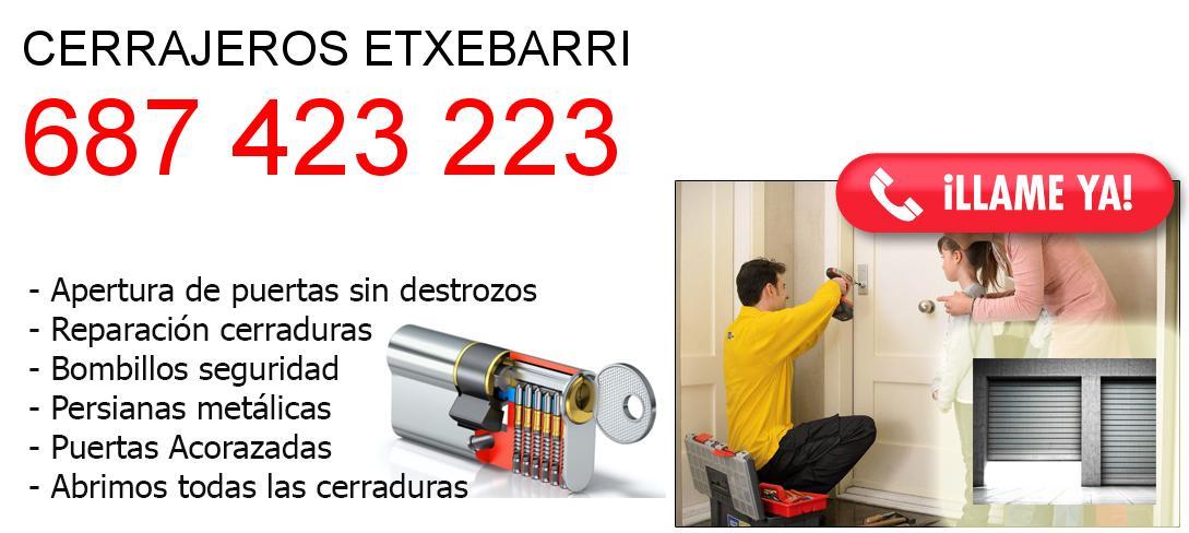 Empresa de cerrajeros etxebarri y todo Bizkaia