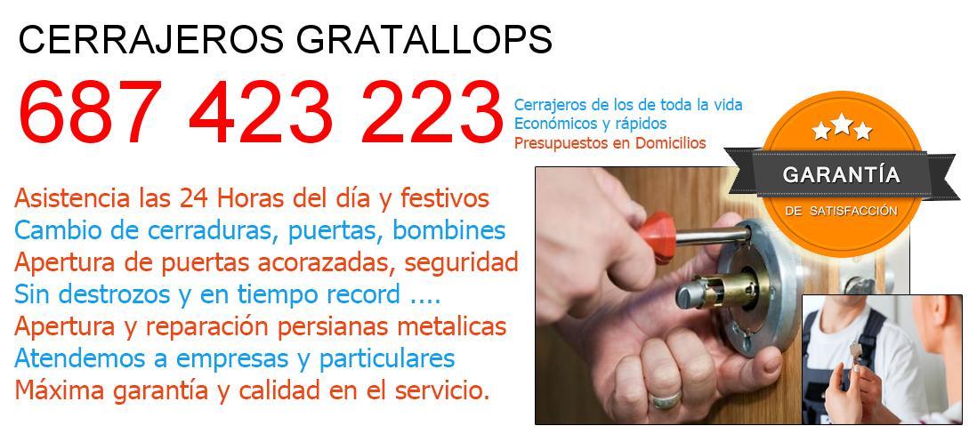 Cerrajeros gratallops y  Tarragona