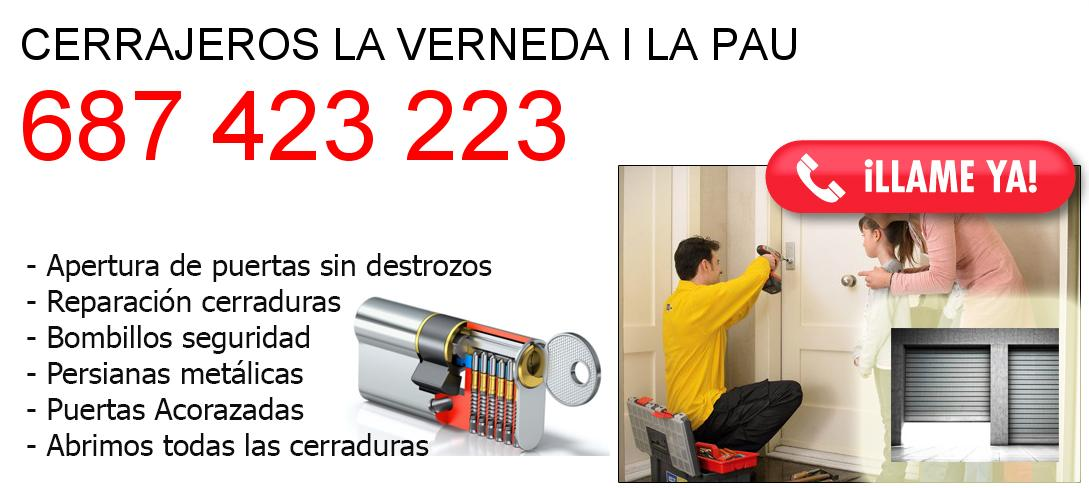 Empresa de cerrajeros la-verneda-i-la-pau y todo Barcelona