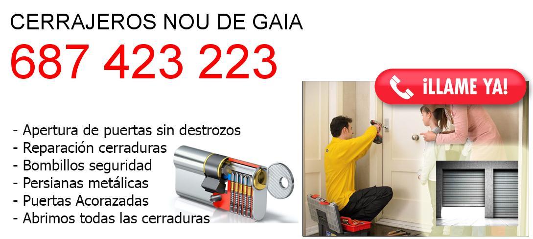 Empresa de cerrajeros nou-de-gaia y todo Tarragona