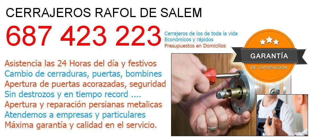 Cerrajeros rafol-de-salem y  Valencia
