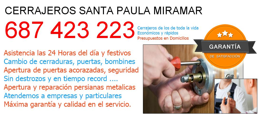 Cerrajeros santa-paula-miramar y  Malaga
