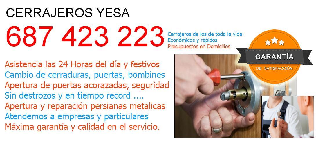 Cerrajeros yesa y  Valencia
