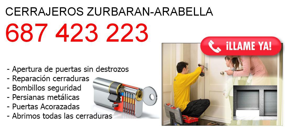 Empresa de cerrajeros zurbaran-arabella y todo Bizkaia